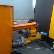 Projektiranje, izrada i montaža termogena (upuh vrućeg zraka u halu) sa spremnikom za biomasu obujma 70 m3. Investitor – MAKRO-MIKRO Zagreb, Buzin